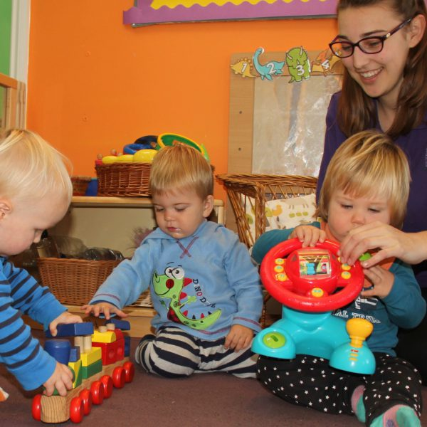 Messy play Little Explorers Nursery in Pakenham, Suffolk