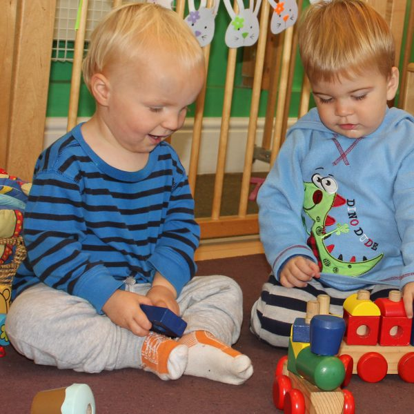 Playing with toys Little Explorers Nursery in Pakenham, Suffolk