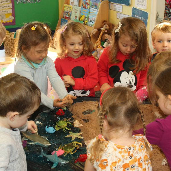 Messy play Little Explorers Nursery in Pakenham, Suffolk