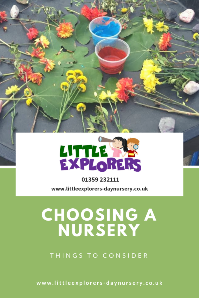 Choosing a nursery - Little Explorers Day Nursery