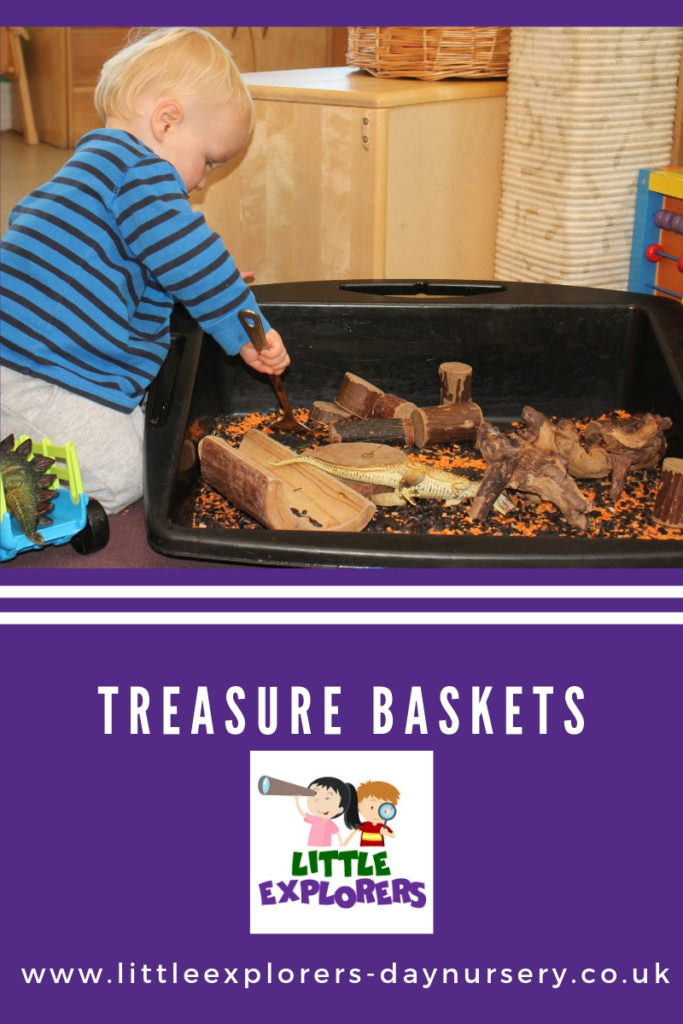 Treasure baskets at Little Explorers Day Nursery